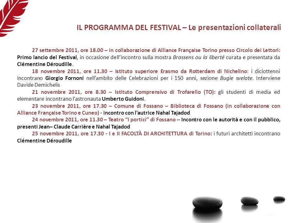 IL PROGRAMMA DEL FESTIVAL – Le presentazioni collaterali 27 settembre 2011, ore 18.00 – in collaborazione di Alliance Française Torino presso Circolo