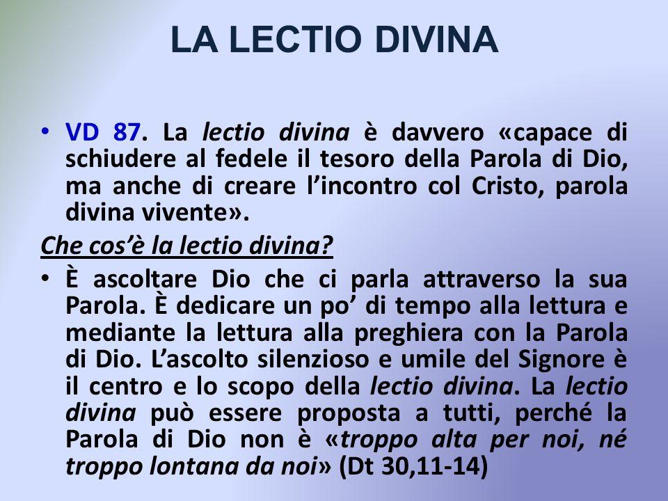 LA LECTIO DIVINA VD 87.