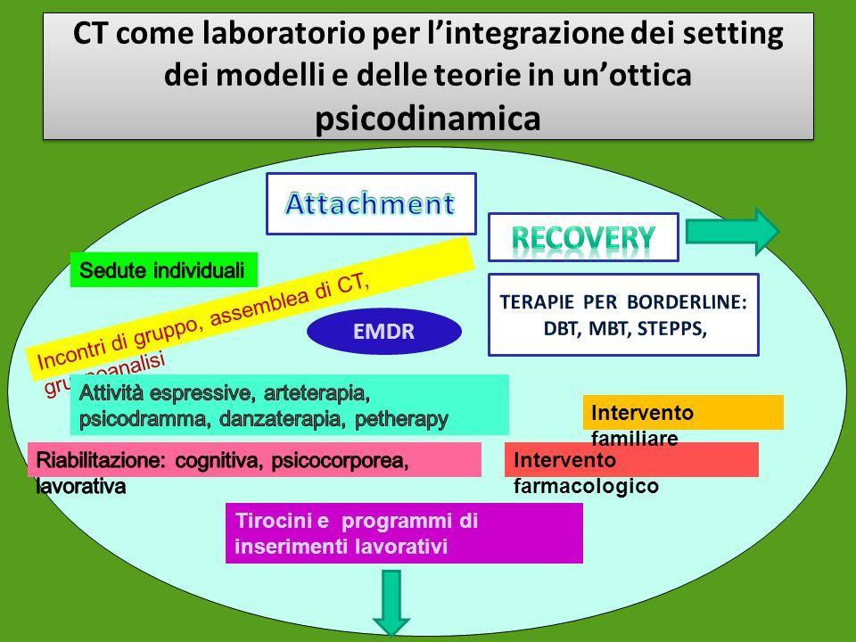 CT come laboratorio per lintegrazione dei setting dei modelli e delle teorie in unottica psicodinamica Incontri di gruppo, assemblea di CT, gruppoanal