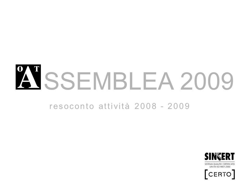 SSEMBLEA 2009 resoconto attività 2008 - 2009