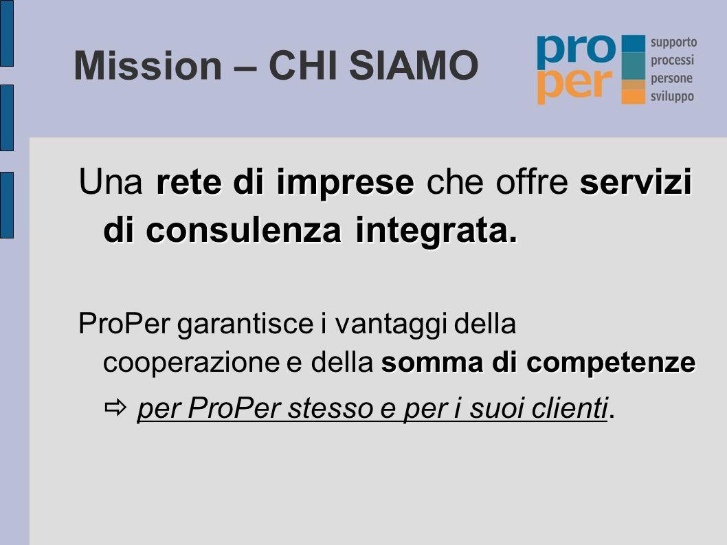Mission – CHI SIAMO rete di impreseservizi di consulenza integrata.