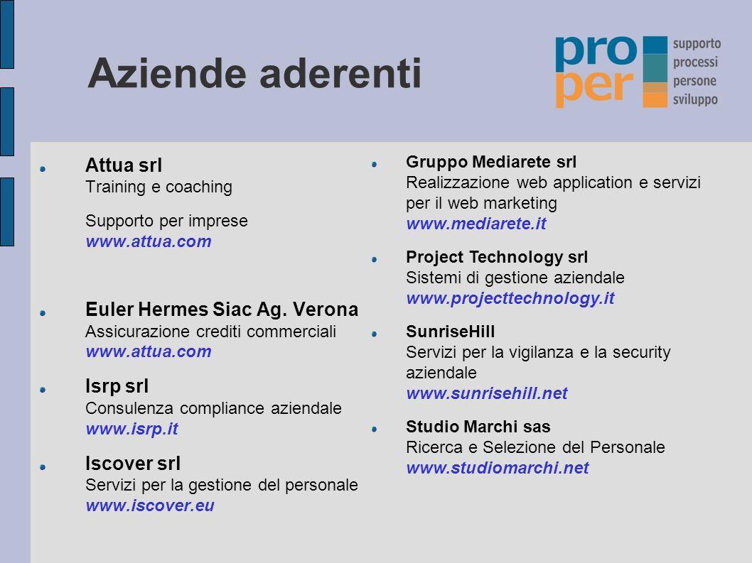 Aziende aderenti Attua srl Training e coaching Supporto per imprese www.attua.com Euler Hermes Siac Ag.