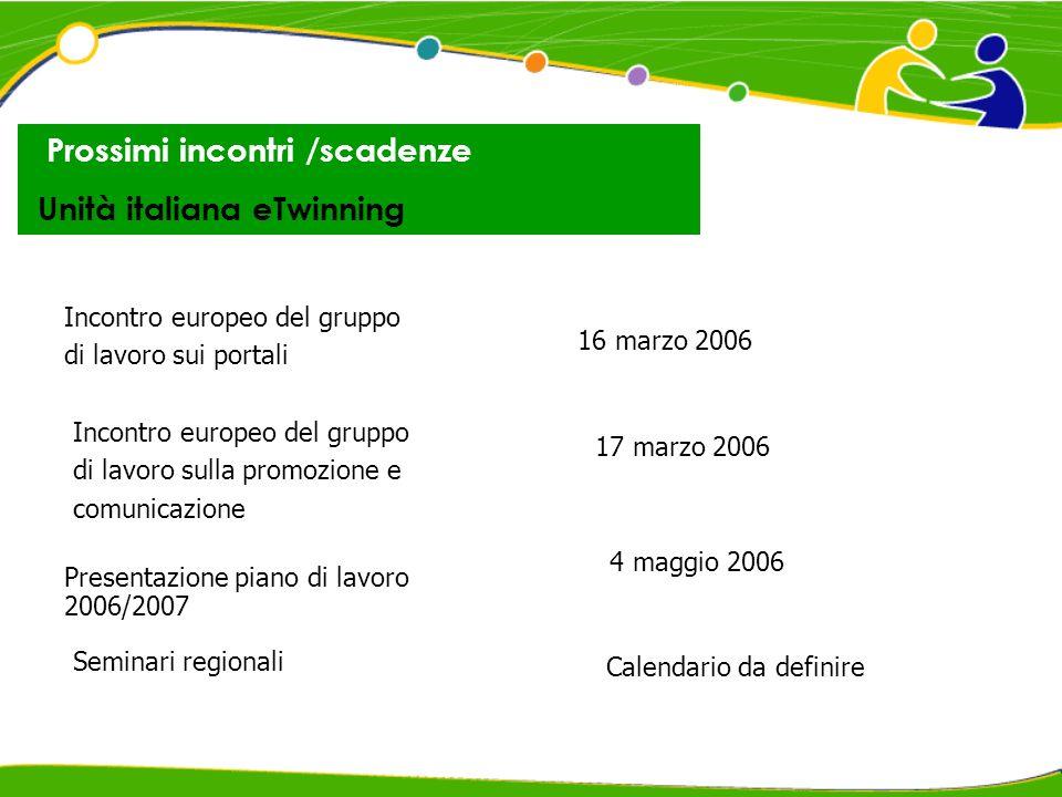 Dati Incontro eTwinning - Firenze, 12 settembre 2005