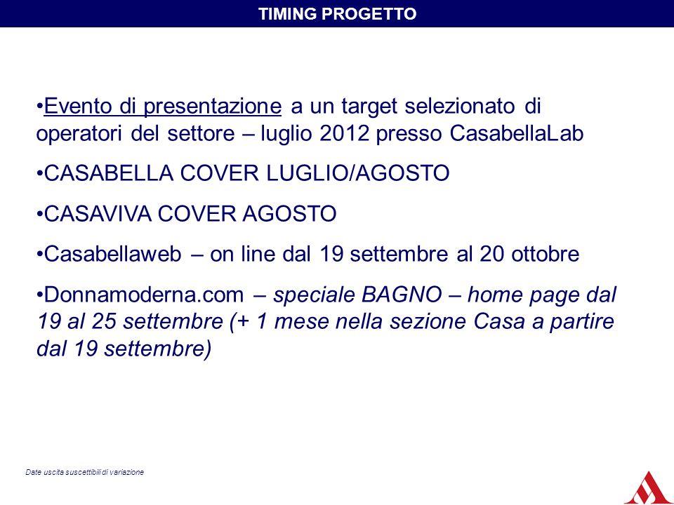 Evento di presentazione a un target selezionato di operatori del settore – luglio 2012 presso CasabellaLab CASABELLA COVER LUGLIO/AGOSTO CASAVIVA COVE