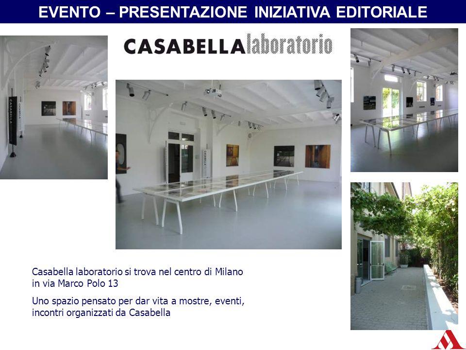 Casabella laboratorio si trova nel centro di Milano in via Marco Polo 13 Uno spazio pensato per dar vita a mostre, eventi, incontri organizzati da Cas
