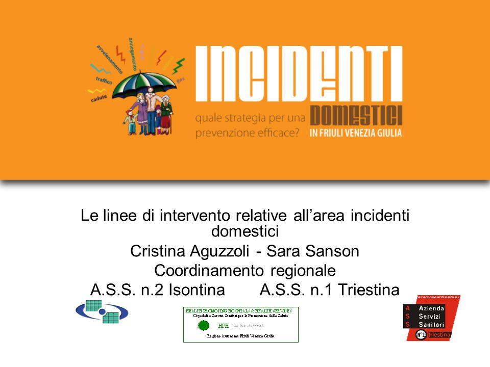 Le linee di intervento relative allarea incidenti domestici Cristina Aguzzoli - Sara Sanson Coordinamento regionale A.S.S.