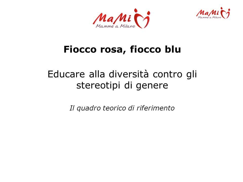 Fiocco rosa, fiocco blu Educare alla diversità contro gli stereotipi di genere Il quadro teorico di riferimento