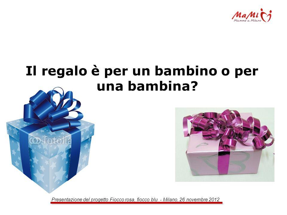 Il regalo è per un bambino o per una bambina?