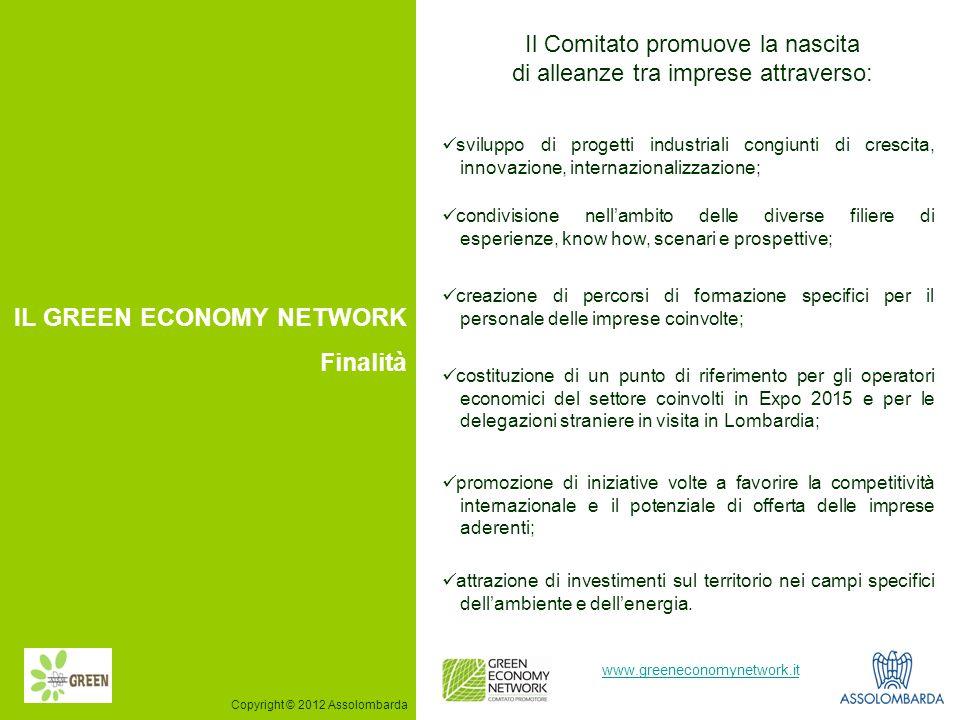 3 www.greeneconomynetwork.it Il Comitato promuove la nascita di alleanze tra imprese attraverso: IL GREEN ECONOMY NETWORK Finalità sviluppo di progett