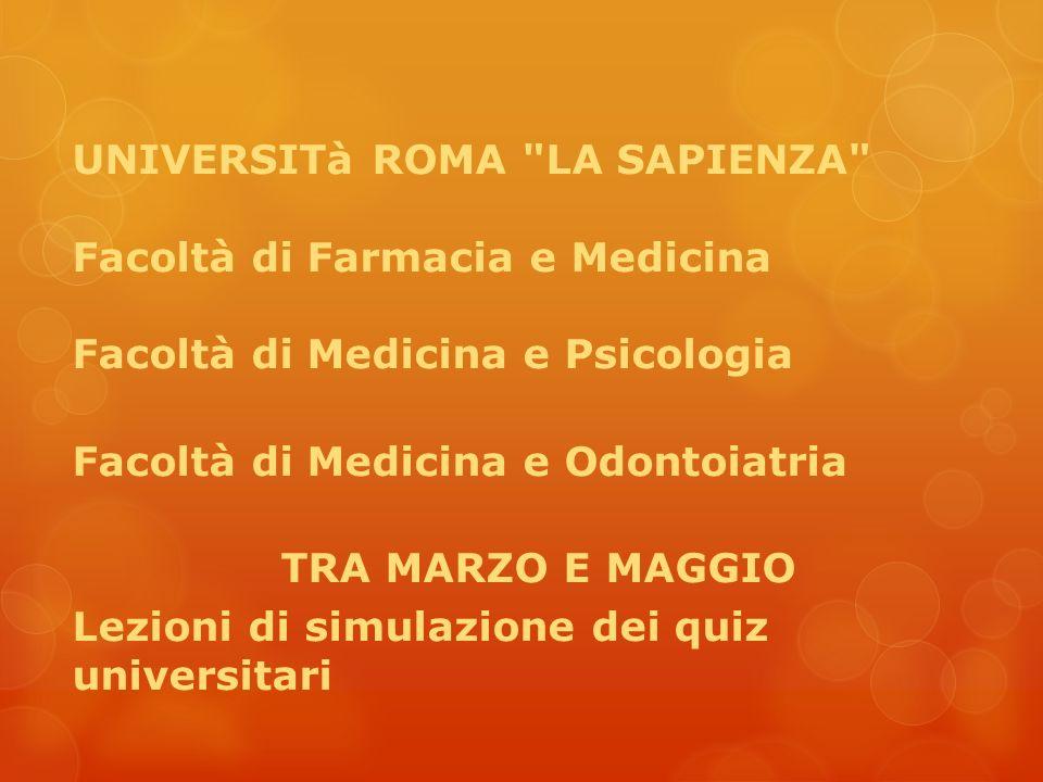 UNIVERSITà ROMA