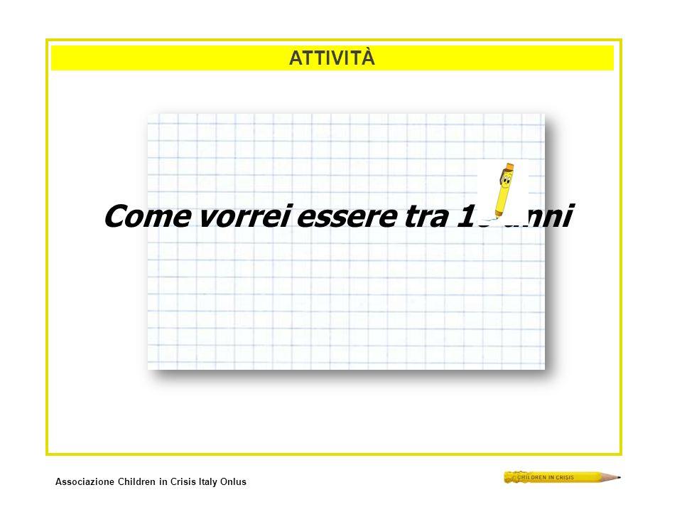 Associazione Children in Crisis Italy Onlus ATTIVITÀ Come vorrei essere tra 10 anni