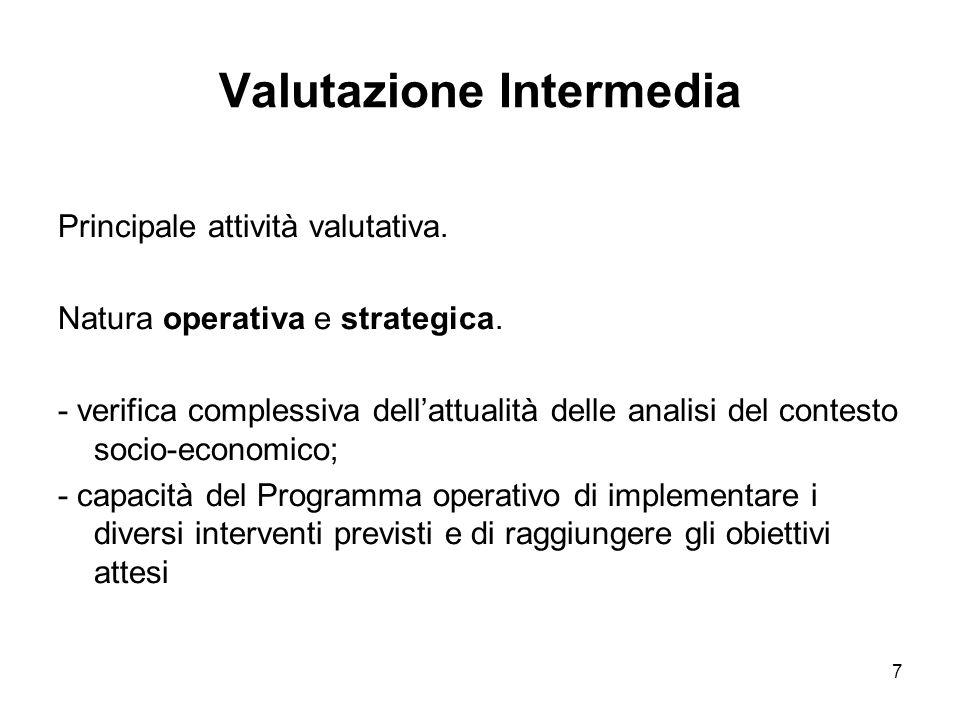 7 Valutazione Intermedia Principale attività valutativa.
