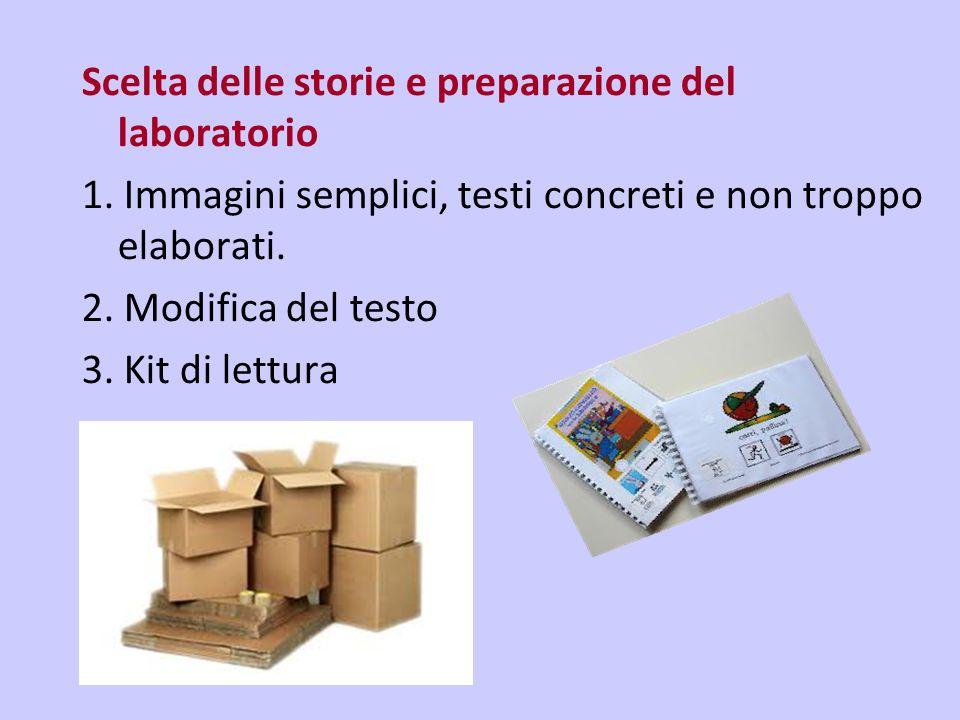 Scelta delle storie e preparazione del laboratorio 1.