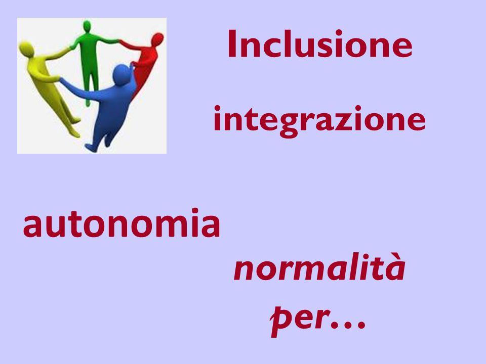 Inclusione integrazione normalità per… autonomia