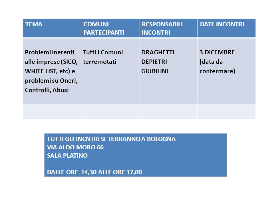 SECONDO CICLO CICLO FORMATIVO di supporto in loco presso i Comuni dellarea sullistruttoria degli stati davanzamento lavori (SAL) OBIETTIVO: RAFFORZAMENTO DELLAZIONE fORMATIVA SVOLTA TRAMITE 5 INCONTRI PER AREE TERRITORIALI (BO/RE/FE/MO1/MO2) STESSO «FORMAT» DEI 2 CICLI PRECEDENTI (autunno 2012 e primavera 2013)