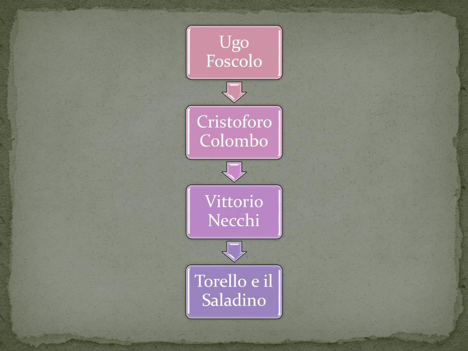Ugo Foscolo Cristoforo Colombo Vittorio Necchi Torello e il Saladino