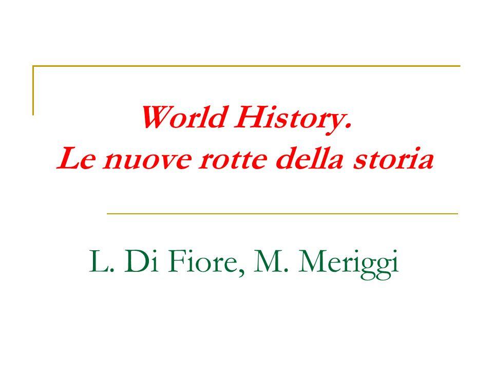 «World History verso un suo statuto accademico Jerry H.