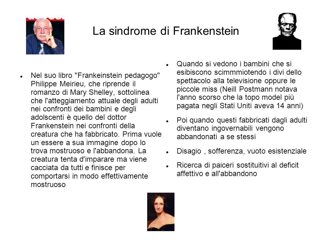 La sindrome di Frankenstein Nel suo libro
