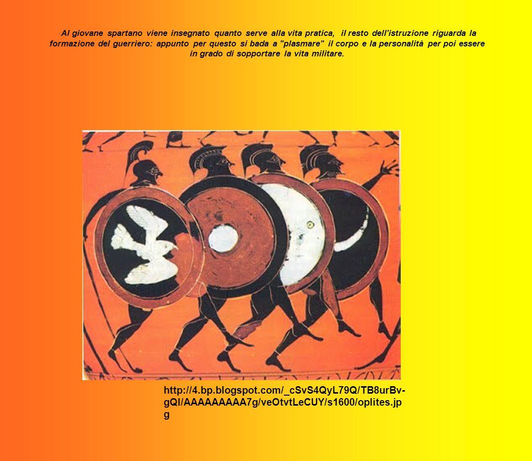·Al giovane spartano viene insegnato quanto serve alla vita pratica, il resto dell'istruzione riguarda la formazione del guerriero: appunto per questo