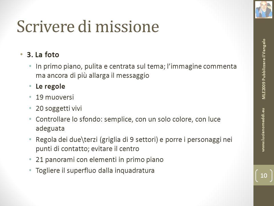 Scrivere di missione 3.