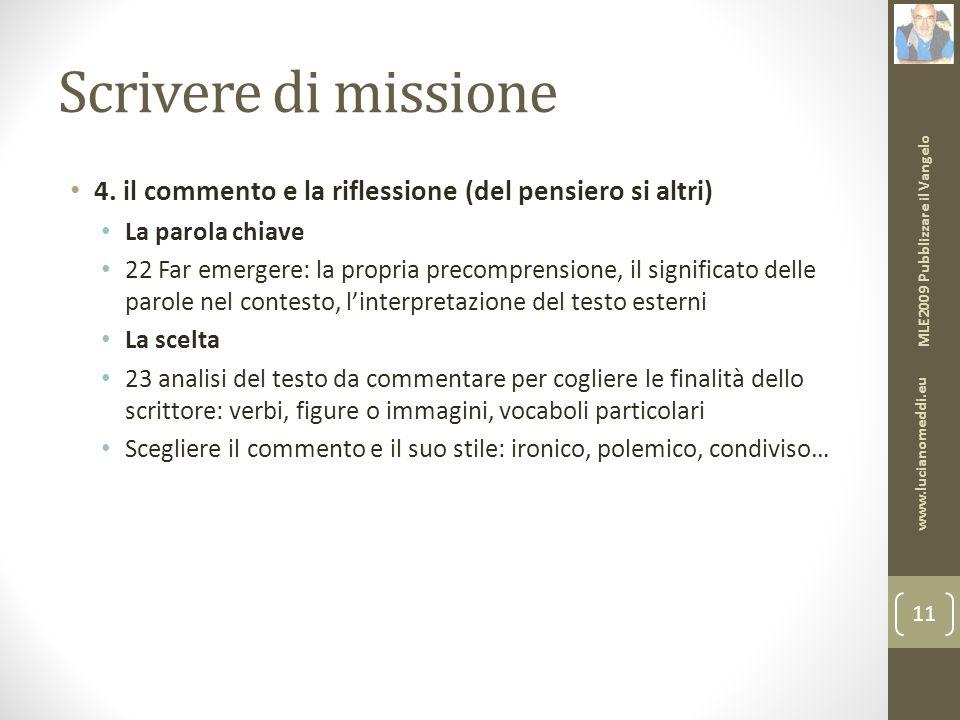Scrivere di missione 4.