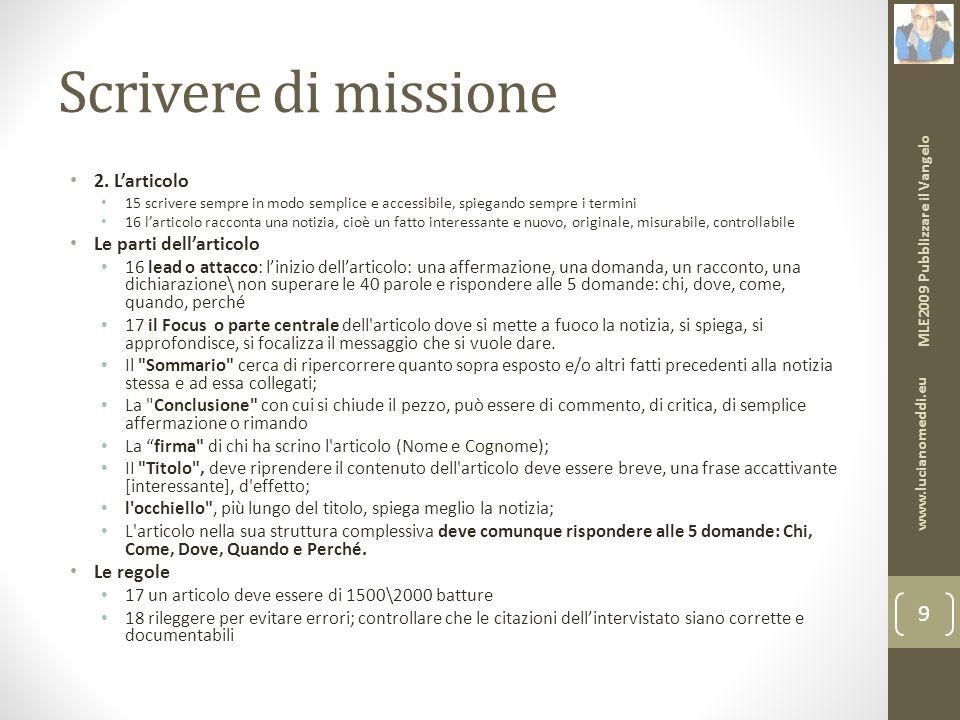 Scrivere di missione 2.