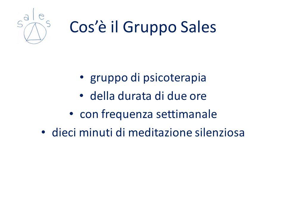 Gruppo Sales progetto pilota percorso formativo sul modello del Vero Sé incontri di supervisione «alla pari» coinvolgimento degli specializzandi in psicoterapia