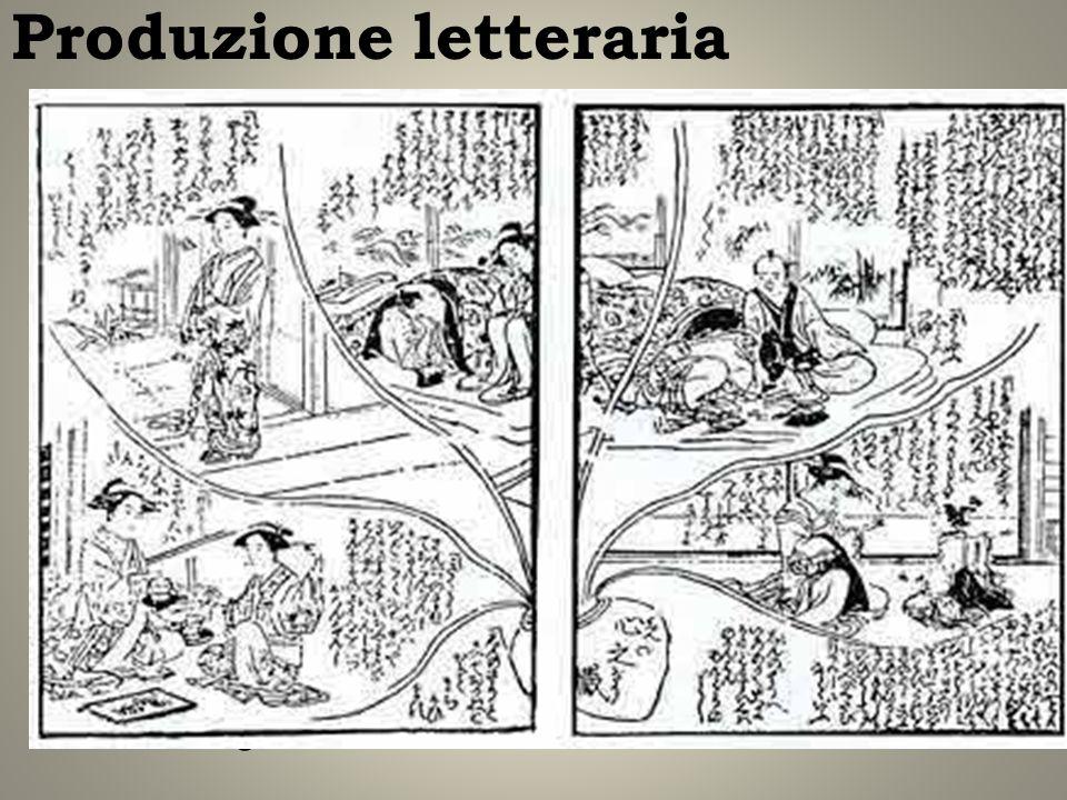 Produzione letteraria Fase dinamica di sviluppo: Stampa diffusione alfabetizzazione, kashihonya Produzione letteraria: 1) kanazōshi (narrativa classic