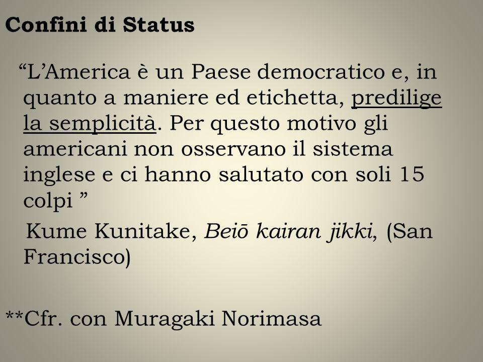 Confini di Status LAmerica è un Paese democratico e, in quanto a maniere ed etichetta, predilige la semplicità. Per questo motivo gli americani non os
