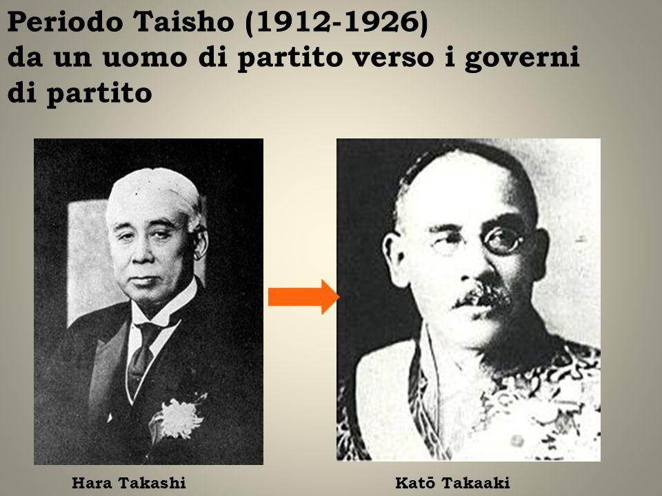 Periodo Taisho (1912-1926) da un uomo di partito verso i governi di partito Hara TakashiKatō Takaaki