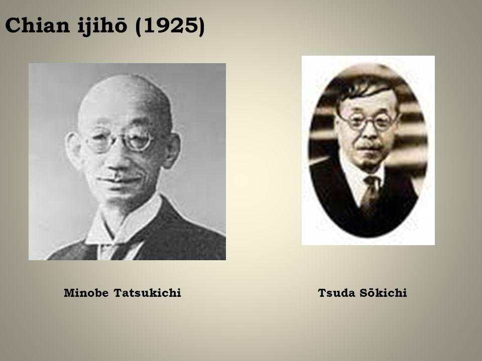 Chian ijihō (1925) Minobe TatsukichiTsuda Sōkichi