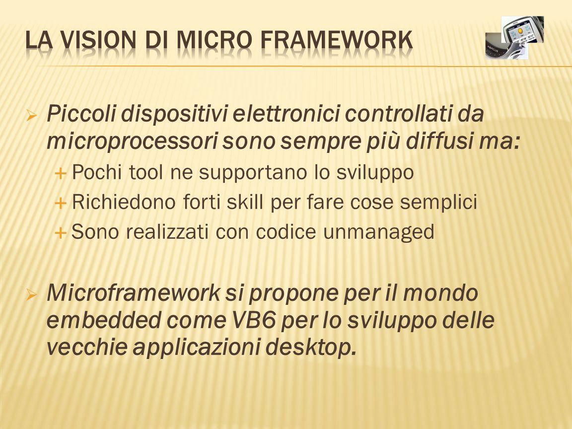 Piccoli dispositivi elettronici controllati da microprocessori sono sempre più diffusi ma: Pochi tool ne supportano lo sviluppo Richiedono forti skill