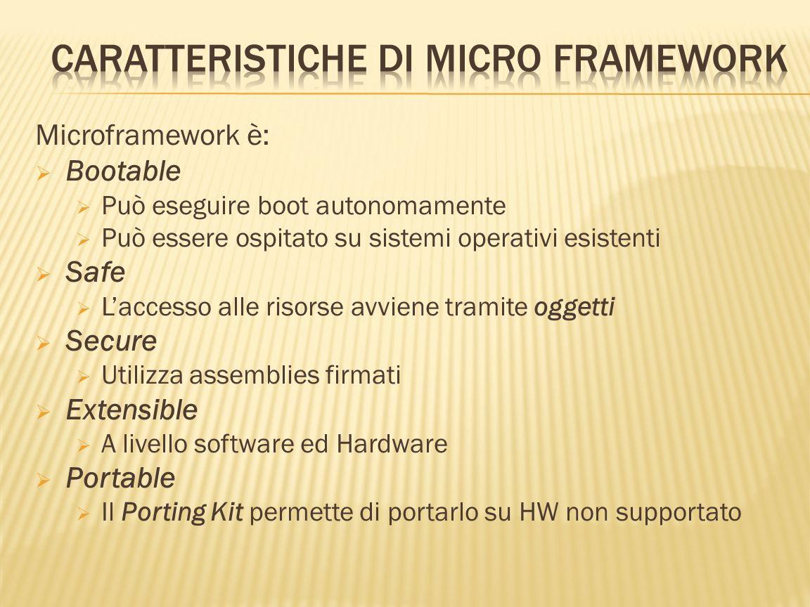 Microframework è: Bootable Può eseguire boot autonomamente Può essere ospitato su sistemi operativi esistenti Safe Laccesso alle risorse avviene trami