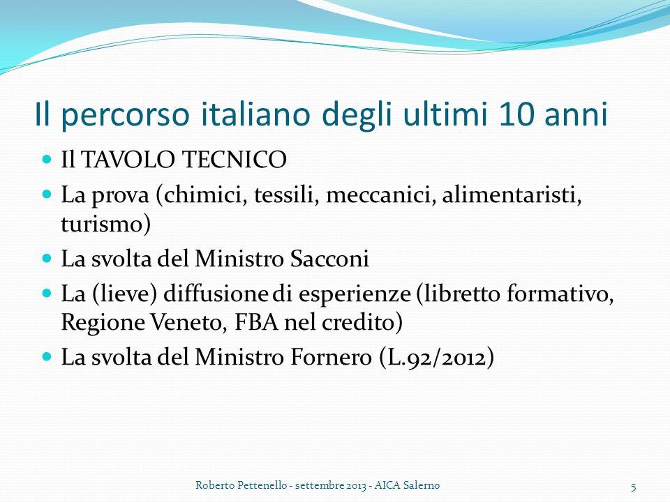 Linee della Legge 92/2012 (1) DECRETO ENTRO DICEMBRE 2012 SU: Standard competenze referenziabili con lU.E.