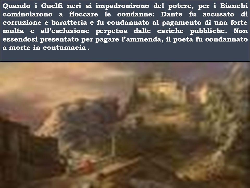 Per fare da paciere Dante fu nominato Priore e, in questa veste, andò come ambasciatore da papa Bonifacio V   .