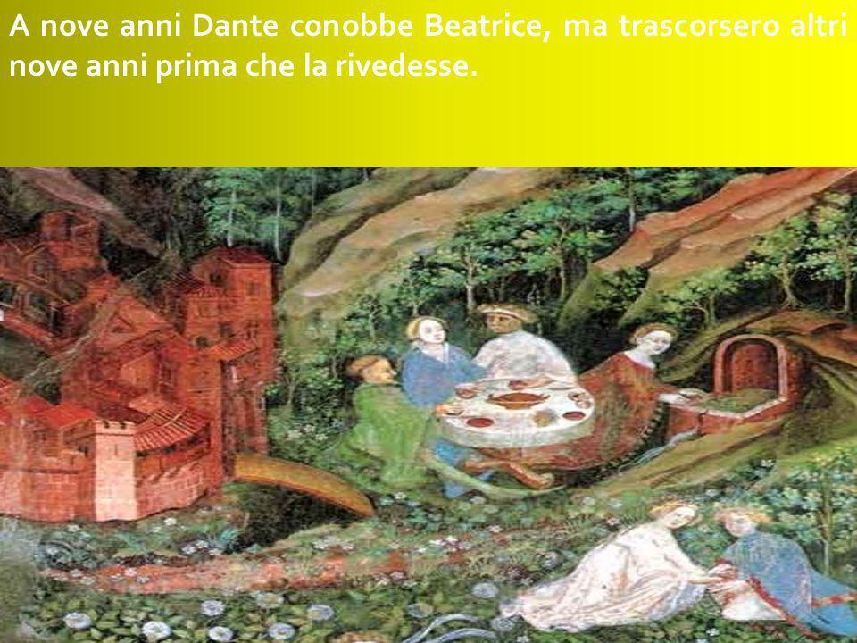 Dante Alighieri nacque a Firenze nel 1265 da una famiglia di nobili origini.