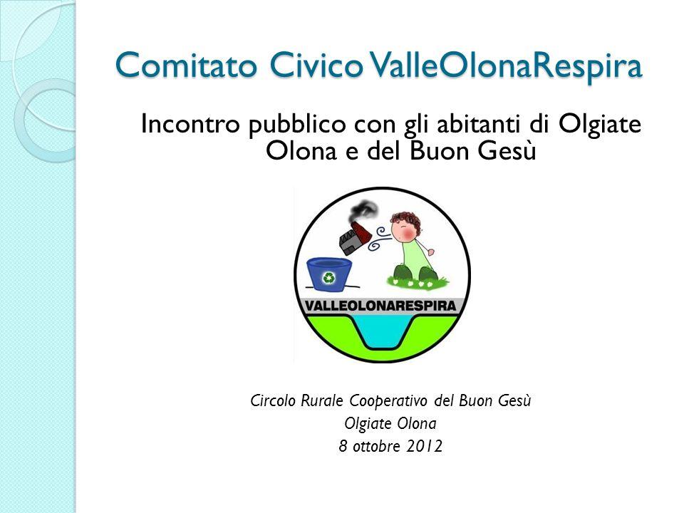Comitato Civico ValleOlonaRespira Incontro pubblico con gli abitanti di Olgiate Olona e del Buon Gesù Circolo Rurale Cooperativo del Buon Gesù Olgiate