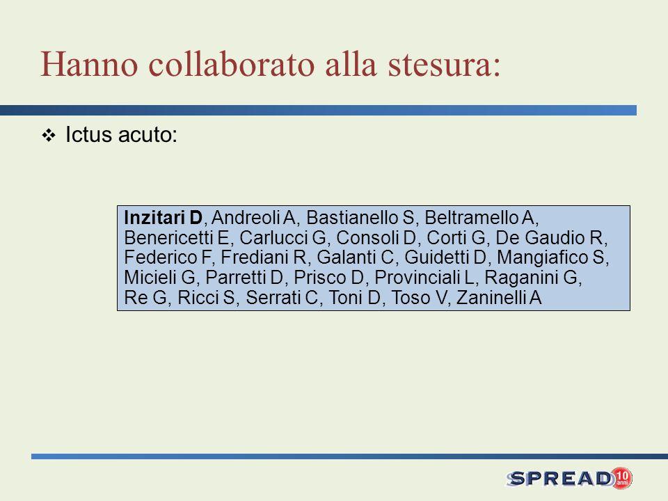 Inzitari D, Andreoli A, Bastianello S, Beltramello A, Benericetti E, Carlucci G, Consoli D, Corti G, De Gaudio R, Federico F, Frediani R, Galanti C, G
