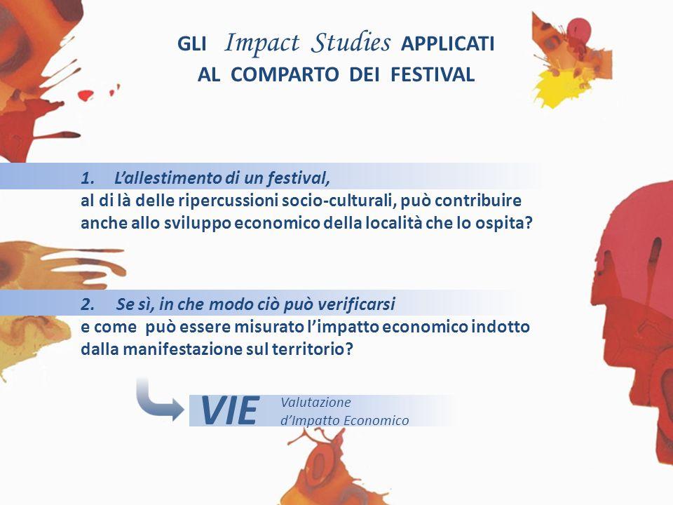 GLI Impact Studies APPLICATI AL COMPARTO DEI FESTIVAL 1.Lallestimento di un festival, al di là delle ripercussioni socio-culturali, può contribuire anche allo sviluppo economico della località che lo ospita.