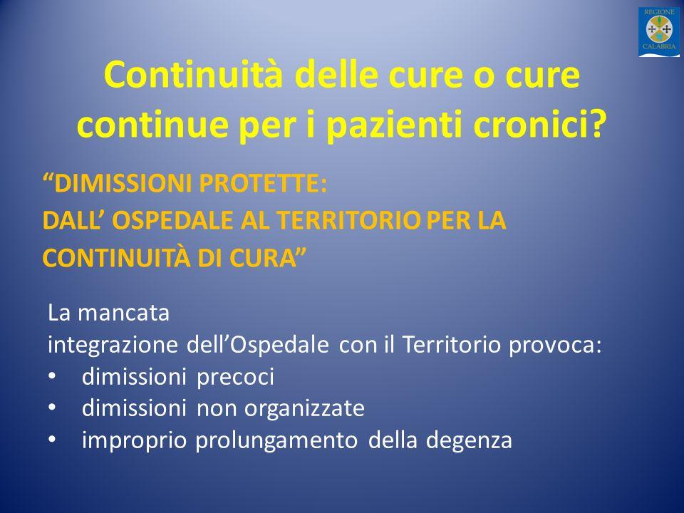 Continuità delle cure o cure continue per i pazienti cronici.