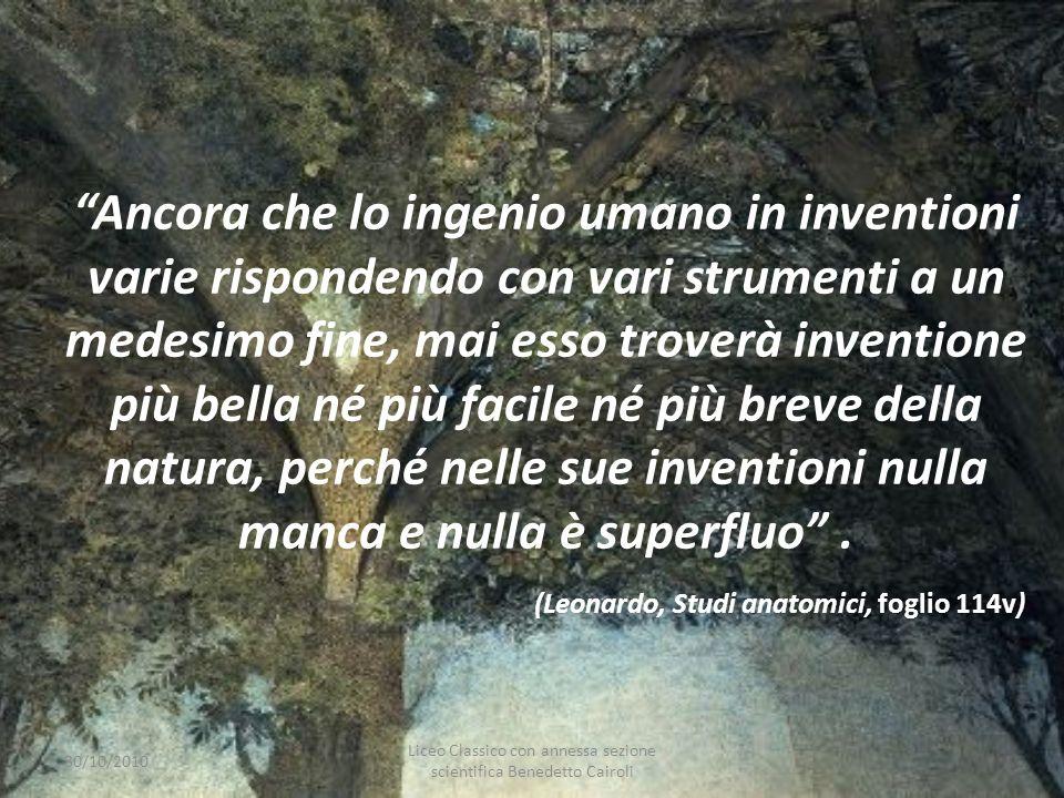Ancora che lo ingenio umano in inventioni varie rispondendo con vari strumenti a un medesimo fine, mai esso troverà inventione più bella né più facile