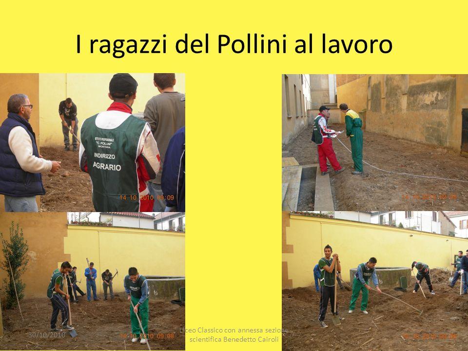 I ragazzi del Pollini al lavoro 30/10/2010 Liceo Classico con annessa sezione scientifica Benedetto Cairoli