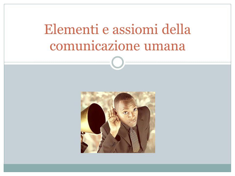 I settori della comunicazione umana Sintassi Semiotica Pragmatica Gli elementi sono comuni, ciò che cambia è il punto di vista