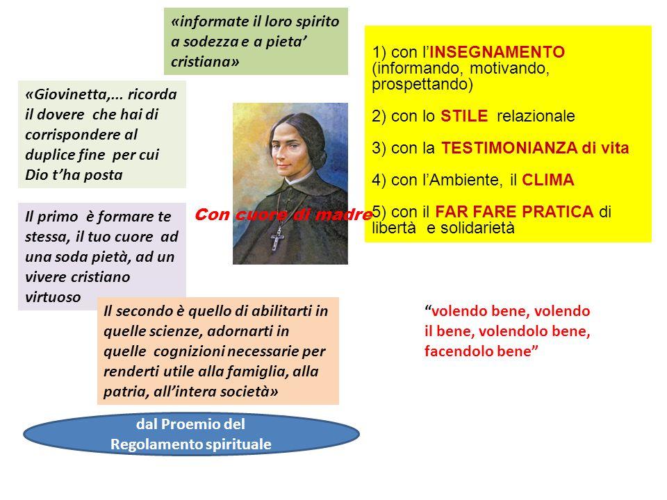 1) con lINSEGNAMENTO (informando, motivando, prospettando) 2) con lo STILE relazionale 3) con la TESTIMONIANZA di vita 4) con lAmbiente, il CLIMA 5) c
