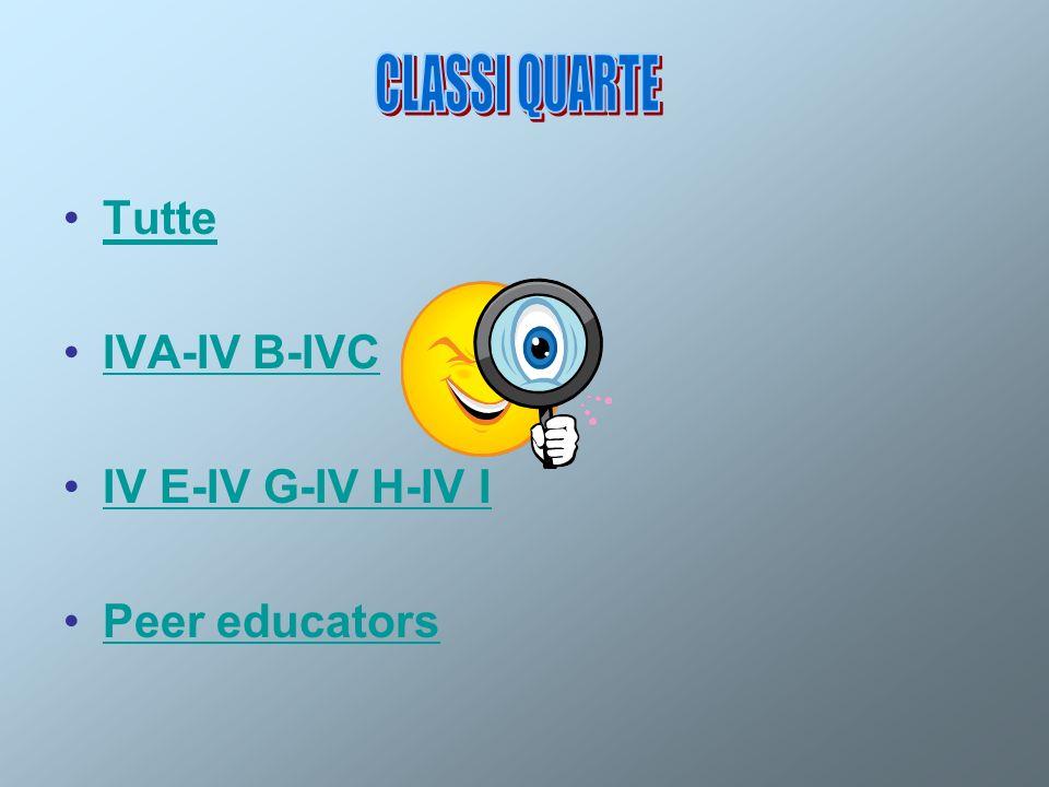 Tutte IVA-IV B-IVC IV E-IV G-IV H-IV IIV E-IV G-IV H-IV I Peer educators