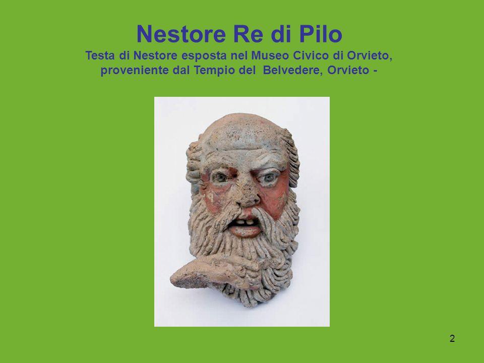 2 Nestore Re di Pilo Testa di Nestore esposta nel Museo Civico di Orvieto, proveniente dal Tempio del Belvedere, Orvieto -