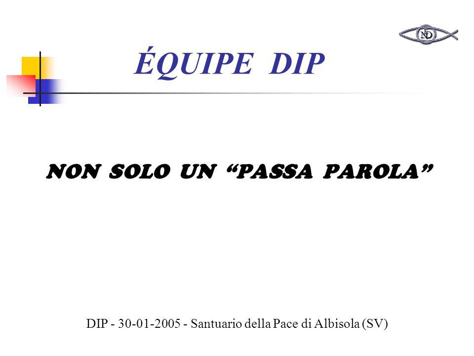 ÉQUIPE DIP NON SOLO UN PASSA PAROLA DIP - 30-01-2005 - Santuario della Pace di Albisola (SV)
