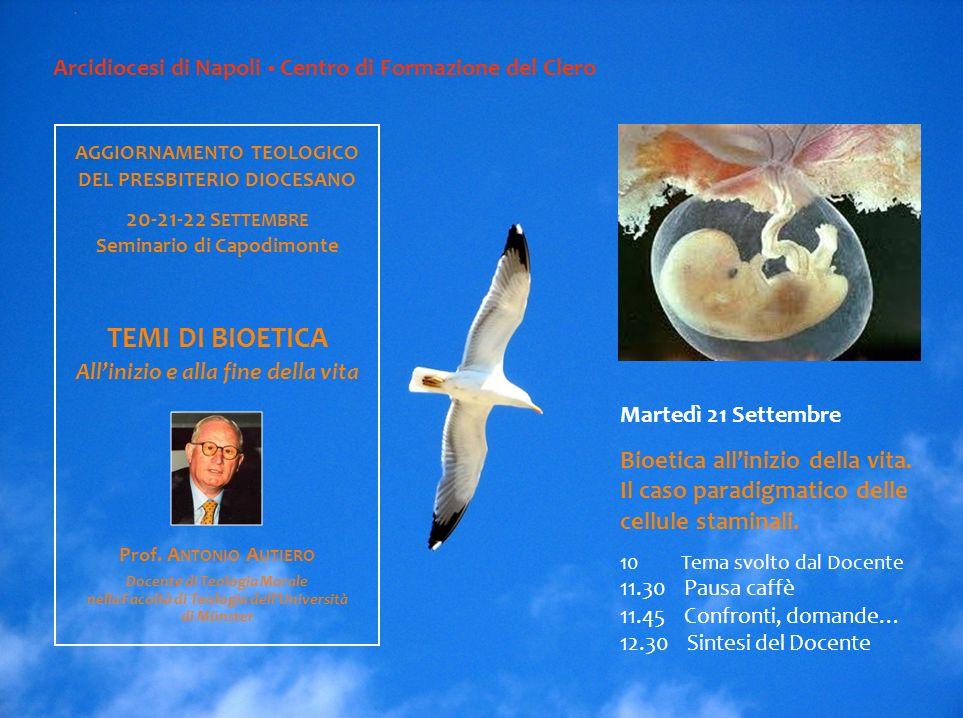 Arcidiocesi di Napoli Centro di Formazione del Clero Lunedì 20 Settembre Il rapporto tra fede ed etica.