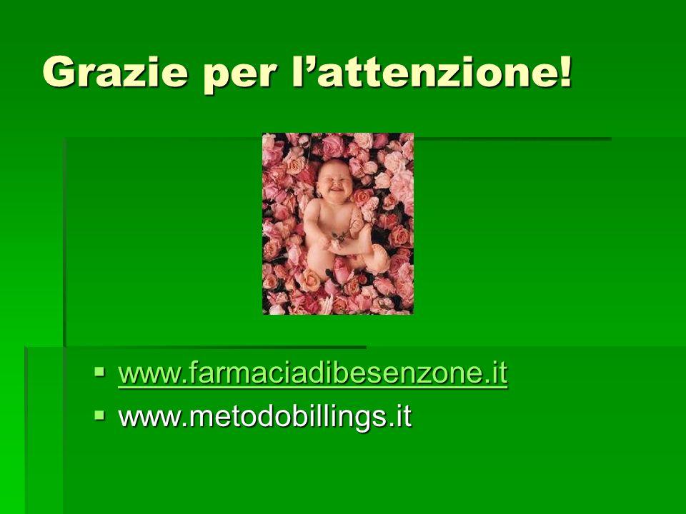 Grazie per lattenzione! www.farmaciadibesenzone.it www.farmaciadibesenzone.it www.farmaciadibesenzone.it www.metodobillings.it www.metodobillings.it