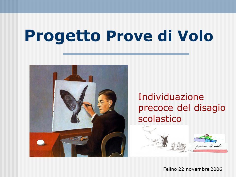 Felino 22 novembre 2006 Progetto Prove di Volo Individuazione precoce del disagio scolastico